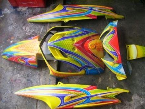 desain grafis airbrush modifikasi yamaha mio sporty airbrush grafis motor expose