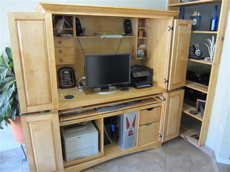 Computer Armoire With Fold Out Desk 29 Model Computer Armoire With Fold Out Table Yvotube