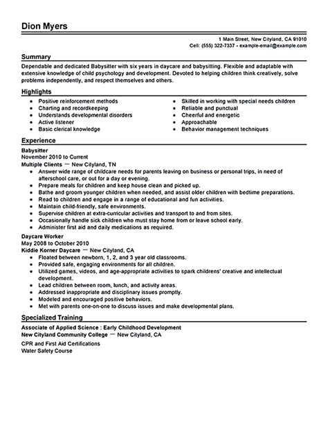 babysitting resume template resume is going to help anyone who is