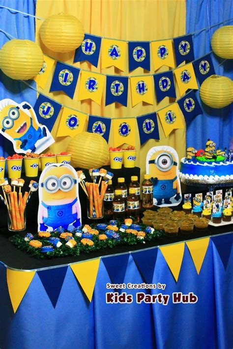 birthday themes minions 21 best minion party images on pinterest birthdays