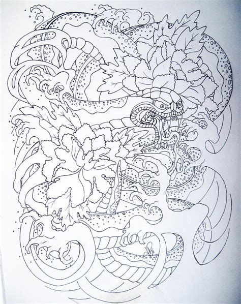japanese snake tattoo design japanese snake by skelos on deviantart
