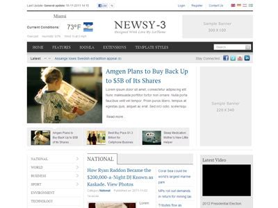 templates for joomla 3 it newsy 3 joomla template joomla magazine template for