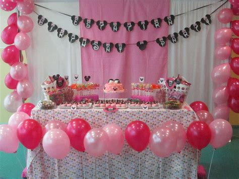 home decoration for 1st birthday party minnie mouse 1st birthday decorations ideas minnie mouse