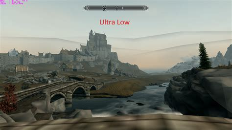 skyrim ultra graphics mod ulg ultra low graphics mod for low end pcs tesv at