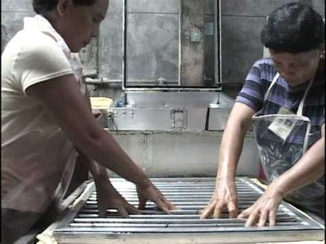 Salay Handmade Paper - the papermaking process salay handmade paper