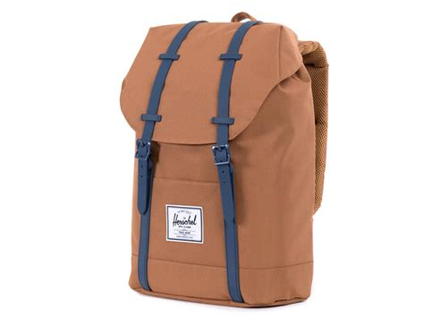 Herschel Macbook Tas herschel retreat rugzak laptoptas caramel navy
