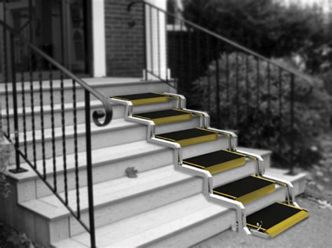 Wheelchair Ramps For Steep Stairs by Convertible Ramp Yanko Design