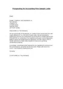 Customer Prospecting Letter Prospecting An Accounting Firm Sle Letter Hashdoc
