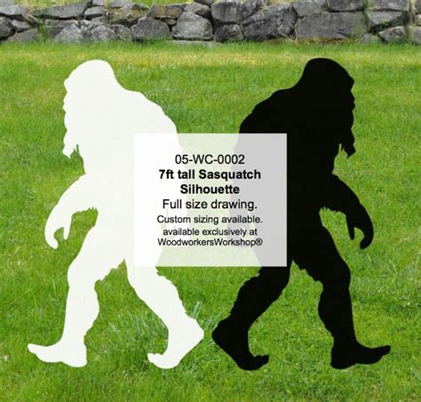wc  bigfoot sasquatch ft tall yard art