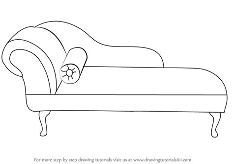 how to draw a recliner chair step by step learn how to draw a chaise lounge furniture step by step