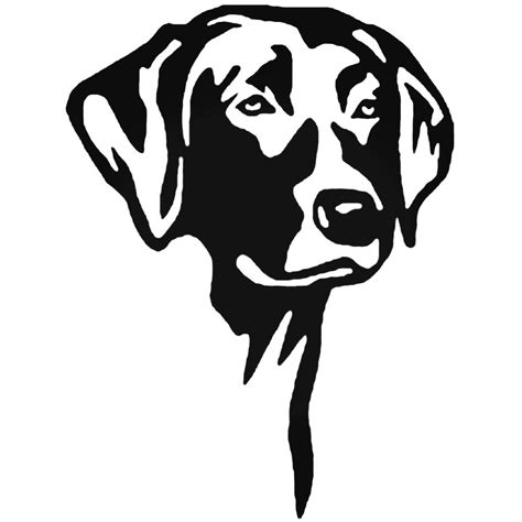 Black Labrador Stickers