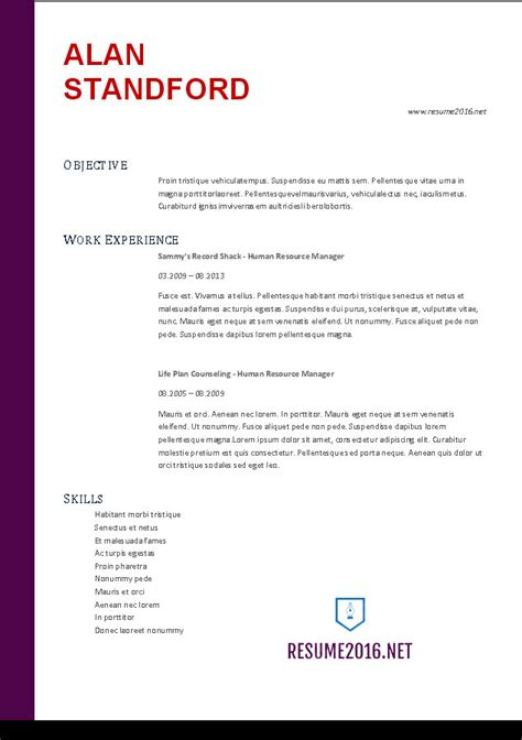 accountant resume templates accountant resume sle 2016