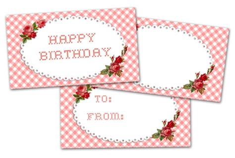 Free Templates For Happy Birthday Gift Cards Envelopes by 78 Free Printable Labels And Beautiful Tags Tip Junkie