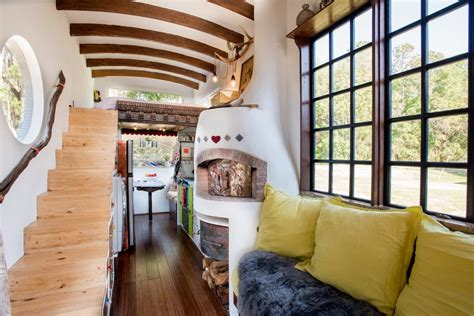 tiny house fireplace dream tiny house comes with a pizza oven fireplace curbed