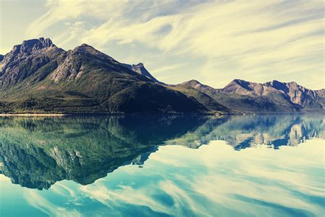Simple Wall Mural norway lake blue colours wall murals wonder wall