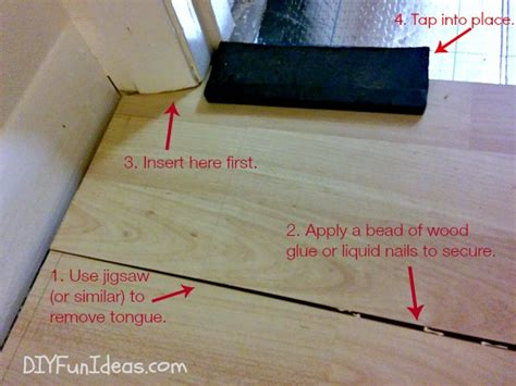 how to remove a section of laminate flooring removing glue laminate flooring thefloors co