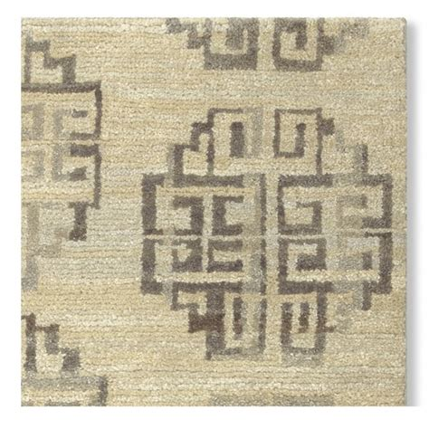 Zeba Rugs by Zeba Knotted Rug Swatch Gray Williams Sonoma