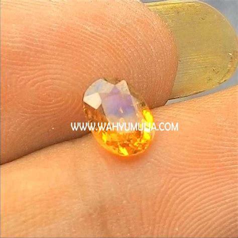 Yellow Sapphire Safir Kuning 3 6ct batu yellow safir kode 218 wahyu mulia