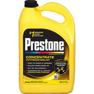 what color is dexcool prestone antifreeze application chart by vehicle