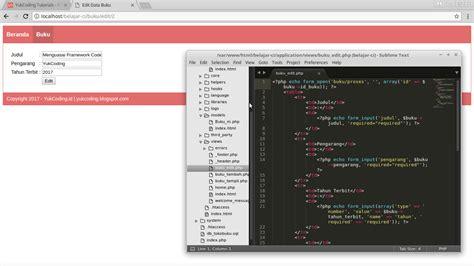 membuat database dengan codeigniter membuat edit data dengan codeigniter dan mariadb yukcoding