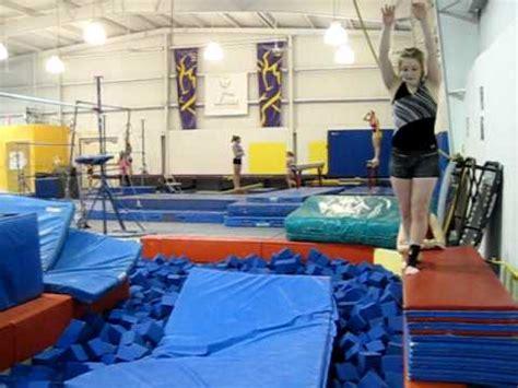 gymnastics layout gainer gymnastics my gainer onto a mat youtube