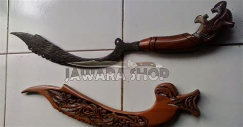Pisau Tongkat Ukir Wayang Jbld2226 kujang ciung hitam berajah kode js 41 jawara sae etnic