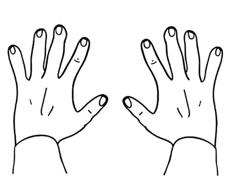 hands coloring page free coloring picture of hands free coloring pages on art