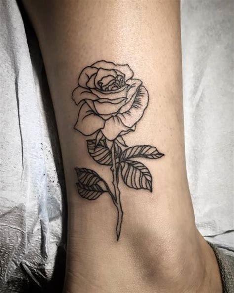 tattoo inspiration rose lineworktattoo tumblr