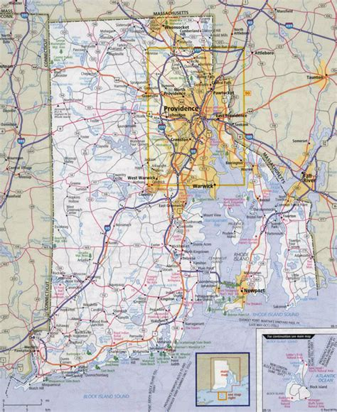 map of ri large detailed roads and highways map of rhode island state with cities vidiani maps of