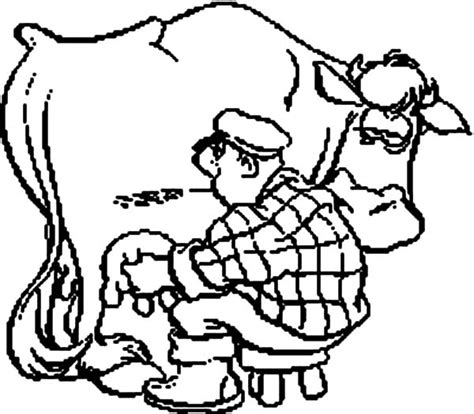 milking cow coloring page free printable coloring pages part 36