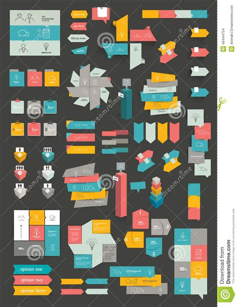 print or web color combinations stock image image collections of info graphics flat design diagrams stock