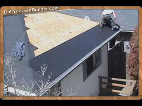 diy section diy how to roof a house section 3 of 6 installing felt
