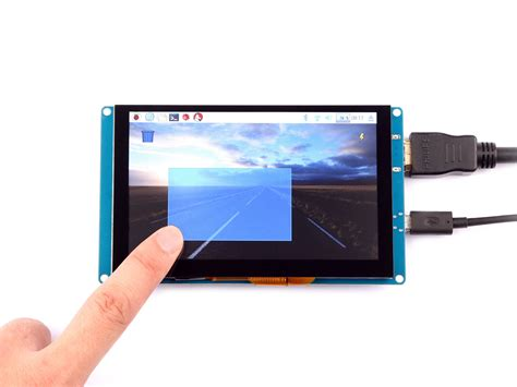 raspberry pi 5 inch capacitive touch screen 800x480 hdmi