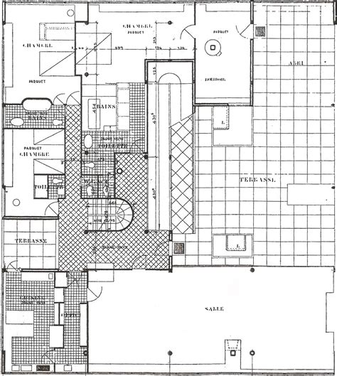 Old House Floor Plans by Linh Nguyen Arch1201 Villa Savoye Plans