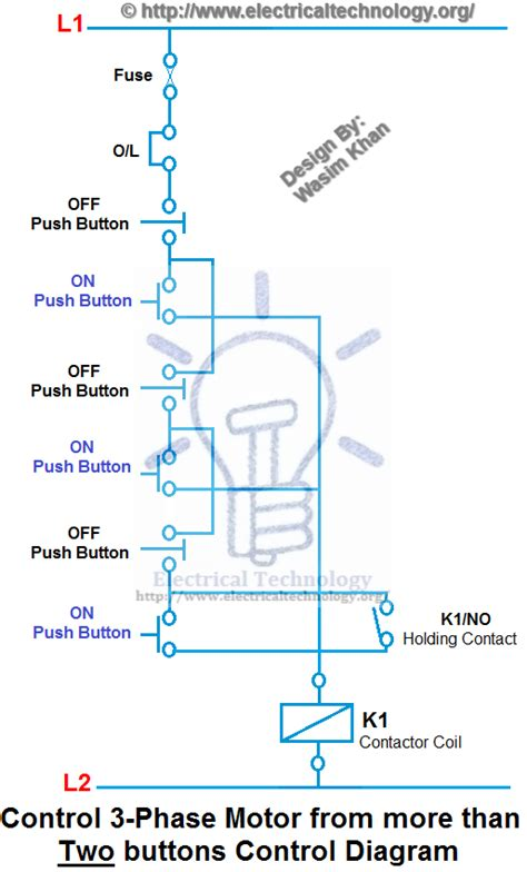 Control 3 Phase Motor From More Than Two Buttons
