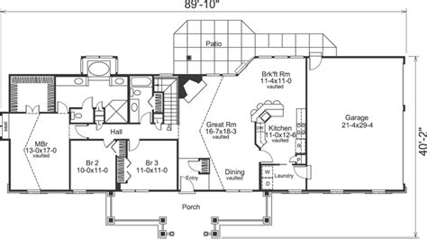 3 Bedroom Ranch Style House Plans by Lovely Ideas Open Floor Plan Ranch Plans For 3 Bedroom 2 Bath