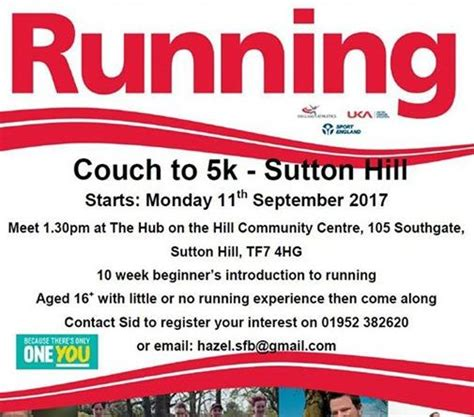 starting couch to 5k couch to 5k starting monday telford live