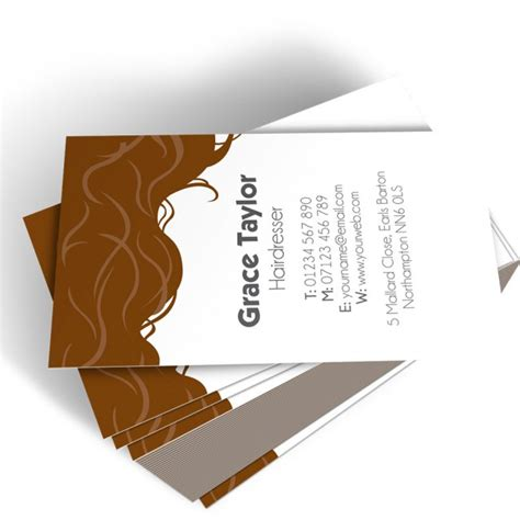 Hair Dresser Business Card by Hairdresser Templated Business Card 3 Able Labels