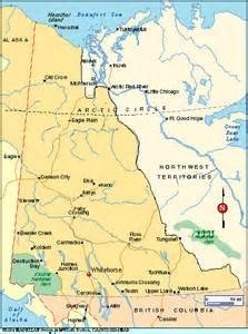 map of yukon territory canada