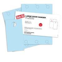 blanks usa templates blue large door hangers 13 x 17 in 67 lb bristol