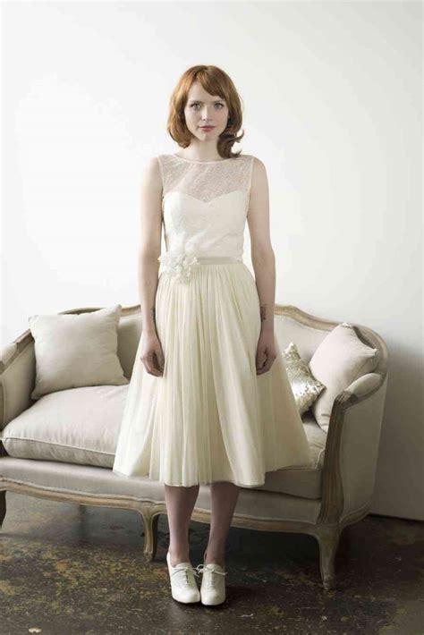 vintage tea length wedding dress tea length wedding dress vintage inspired accordian pleats