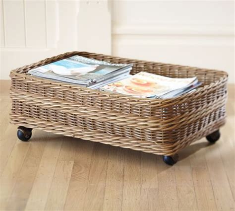 The Bed Storage On Wheels by Jacquelyne Underbed Basket Pottery Barn