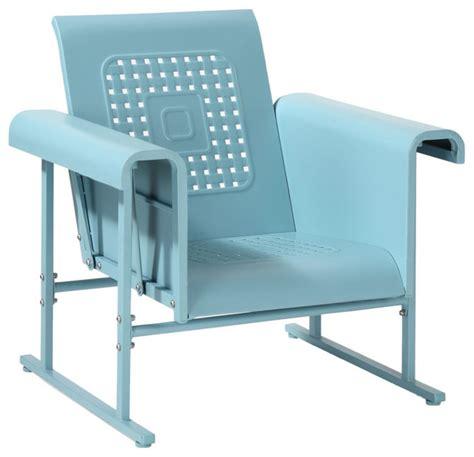 blue glider chair veranda single glider chair contemporary outdoor