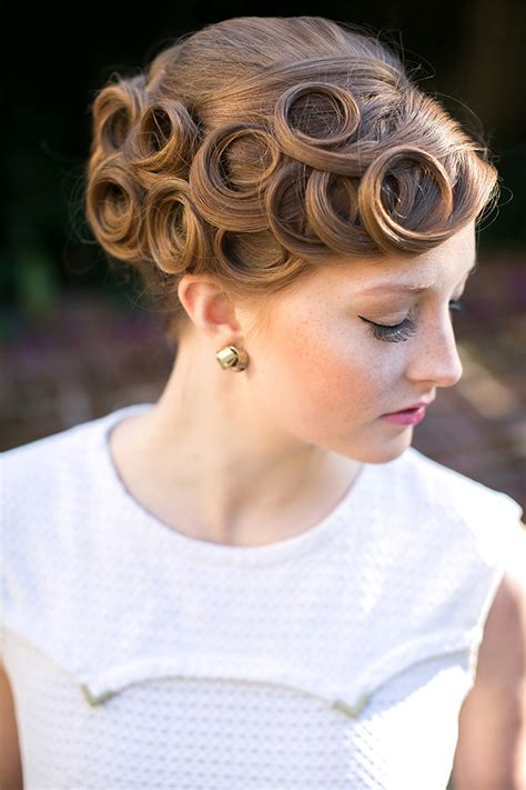 Pin Curl Hairstyles by Vintage Pin Curls For Nostalgic Brides Mon Cheri Bridals