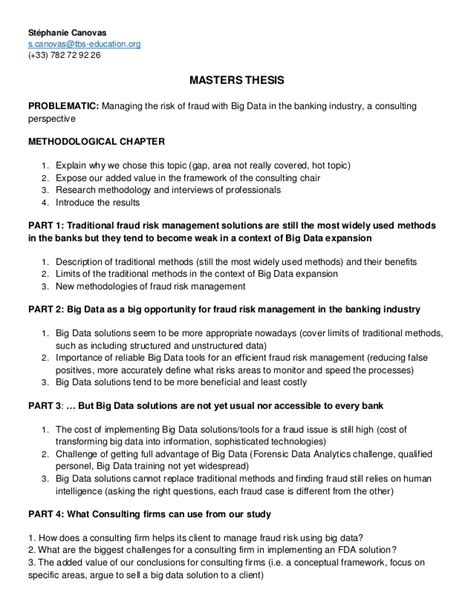 Masters thesis & interview guide