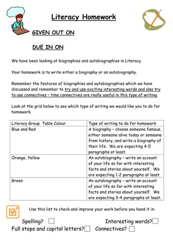 biography and autobiography primary resources differentiated autobiography task sheet by bunnygrumpy