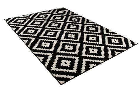 teppich schwarz designer teppich wohnzimmer teppich kurzflor schwarz creme