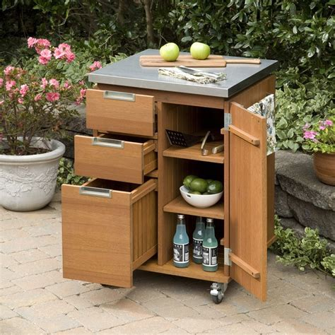 outdoor kitchen cart montego bay patio kitchen cart outdoors barbecue