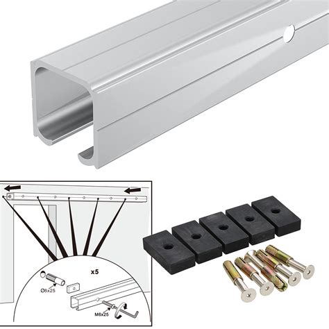 sliding closet door hardware 2m modern aluminum alloy sliding barn door hardware track set interior closet ebay