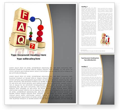 faq word template 04852 poweredtemplate com